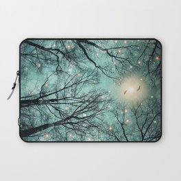 Nature Blazes Before Your Eyes (Mint Embers) Laptop Sleeve