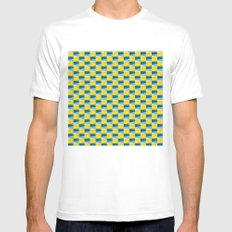 Aronde Pattern Mens Fitted Tee White MEDIUM