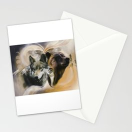 Wolf, Bear, Owl Spirit Animals Stationery Cards