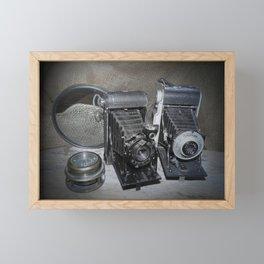 Vintage Lenses. Framed Mini Art Print