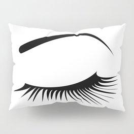 Closed Eyelashes Left Eye Pillow Sham