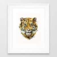 tiger Framed Art Prints featuring Tiger // Strength by Amy Hamilton
