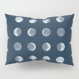 8bit Moon Phases Pillow Sham