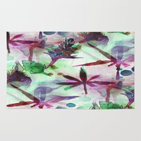 northern lights Area & Throw Rugs featuring Northern Lights by Cannabis Color Art