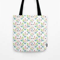 camping Tote Bags featuring Camping by Whimsy Milieu