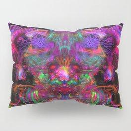 7 Temporal Spirits (psychedelic, psytrance, totem, fluorescent, visionary art) Pillow Sham