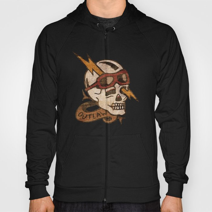 Old Timey Tattoo Design Hoody