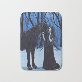Midnight Travelers Gothic Fairy and Unicorn Bath Mat