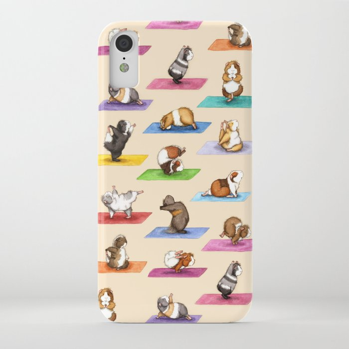 the yoguineas - yoga guinea pigs - namast-hay! iphone case