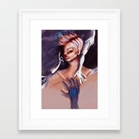 anxiety Framed Art Prints featuring Anxiety by Sageminti