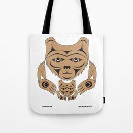 Spirit Bear & Cub by: Jody Broomfield Tote Bag