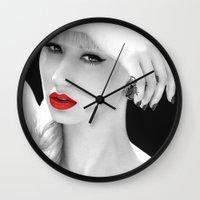 iggy azalea Wall Clocks featuring Iggy Azalea Bahaus by infinitelydan