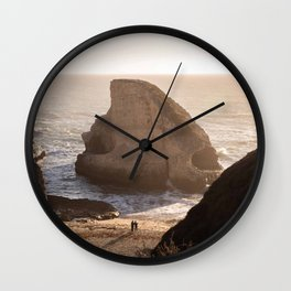 Shark Fin Cove Beach, Davenport California Sunset Photography, Love, Travel  Wall Clock