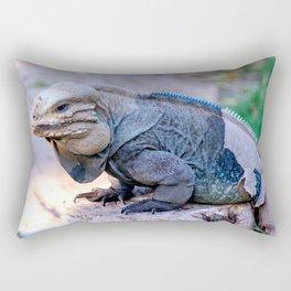 Dominican Iguana Rectangular Pillow