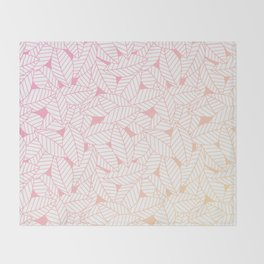Leaves in Sunset Throw Blanket