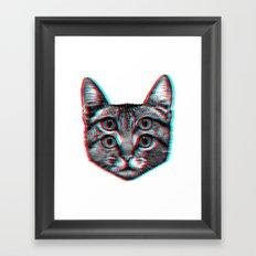 Cat 3D Framed Art Print