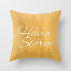 Haven from the Storm Throw Pillow