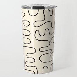 Abstract Lines 2 black and white Travel Mug