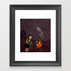 I got bad news for you, said the ghost. Framed Art Print