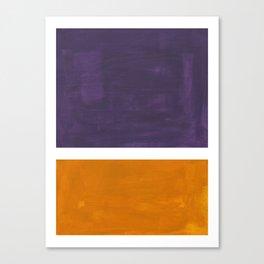 Purple Yellow Ochre Rothko Minimalist Mid Century Abstract Color Field Squares Canvas Print