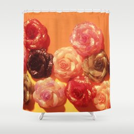 GLITTERY ROSES Shower Curtain