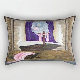 God As Man Rectangular Pillow
