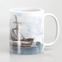 boats Mugs featuring Boats by Marine Koprivnjak
