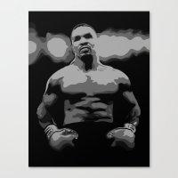 mike tyson Canvas Prints featuring Tyson by iankingart