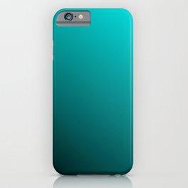 Gradient Aqua and Black iPhone Case