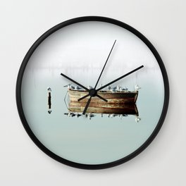 Resting On A Boat Wall Clock