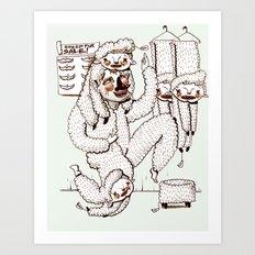 Sheep Obsession Art Print