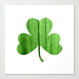 woodgrain shamrock Canvas Print