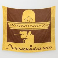 cigarette Wall Tapestries featuring Mexicano - Vintage Cigarette by Fernando Vieira