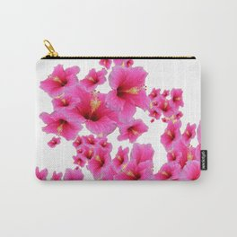 MODERN ART TROPICAL FUCHSIA HIBISCUS  FLOWERS Carry-All Pouch