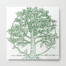 Forest Lover's Tree Metal Print