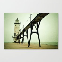 Manistee Light Canvas Print