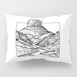 Monument Valley Hand Drawing Pillow Sham