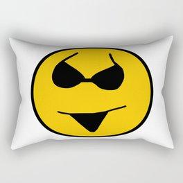 Smiley Bikini Have a Nice Beach Day Rectangular Pillow