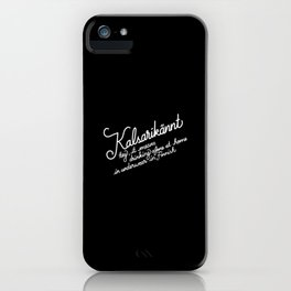 Kalsarikännt   [black & white] iPhone Case