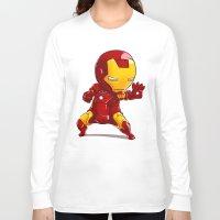 ironman Long Sleeve T-shirts featuring IRONMAN by MauroPeroni