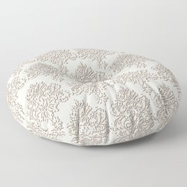 "Damask ""Cafe au Lait"" Chenille with Lacy Edge Floor Pillow"