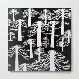 Araucarias Blancas Metal Print