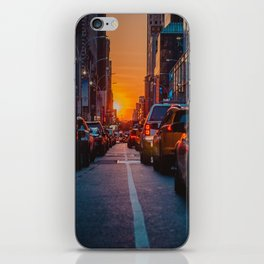 New York City Taxi Sunset (Color) iPhone Skin