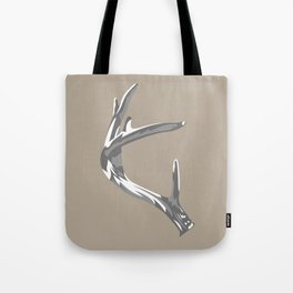 Antler Grey and White - Left Tote Bag