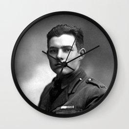 Ernest Hemingway in Uniform, 1918 Wall Clock