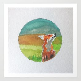 Rounded fox Art Print