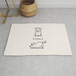 Inhale Exhale Pig Rug