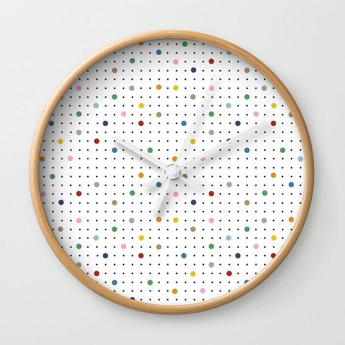 Pin Points Repeat Wall Clock
