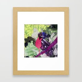 Paper Umbrella Bird Framed Art Print