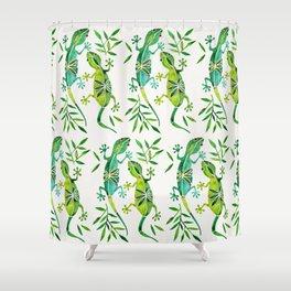 Geckos – Green Palette Shower Curtain